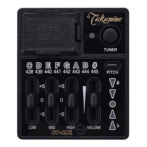 Takamine CT4BII Preamp für Westerngitarre (Vorverstärker für Takamine Pro Series Gitarren, mit 3-Band-EQ)