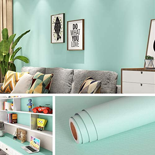 Livelynine 15 8X394 Inch Light Blue Wallpaper Peel and Stick Wall Paper Sticker Pull and Stick product image