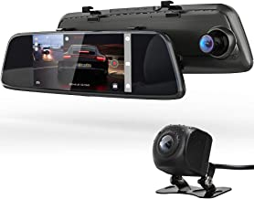 "COOAU Mirror Dual Night Vision Dash Cam, 7"" 1080P Full HD Touch Screen Front and Rear Car Camera Recorder with Dual 170°Wide Angle, Parking Monitor, Motion Detection, G-Sensor, WDR, Loop Recording"