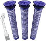 Colorfullife 3 + 1 Pack Pre Filters for Dyson DC58, DC59, V6, V7, V8 Vacuum. Replacements Part # 965661-01. 3 Filters Kit for Dyson Filter Replacements