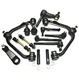 PartsW 18 Piece Complete Suspension Kit for Ford Expedition F-150 F-250 Lincoln Navigator 2WD, Control Arms w/Ball joints Pitman and Idler Arms (With 2.5' Bolt Pattern) Tie Rod Ends Adjusting Sleeves