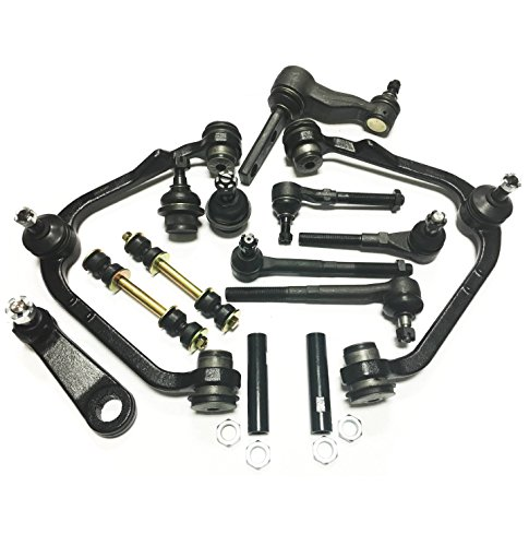 "PartsW 18 Piece Complete Suspension Kit for Ford Expedition F-150 F-250 Lincoln Navigator 2WD, Control Arms w/Ball joints Pitman and Idler Arms (With 2.5"" Bolt Pattern) Tie Rod Ends Adjusting Sleeves"