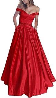wholesale dealer 2834f e5f05 Amazon.it: Vestiti Da Sera Rosso - Lungo / Vestiti / Donna ...