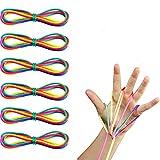 Tweal Jouet de Corde de Doigt 6PCS Jeu De Main Arc-en-Ciel Corde Jouet Jeu De Compétence Chat Cradle String