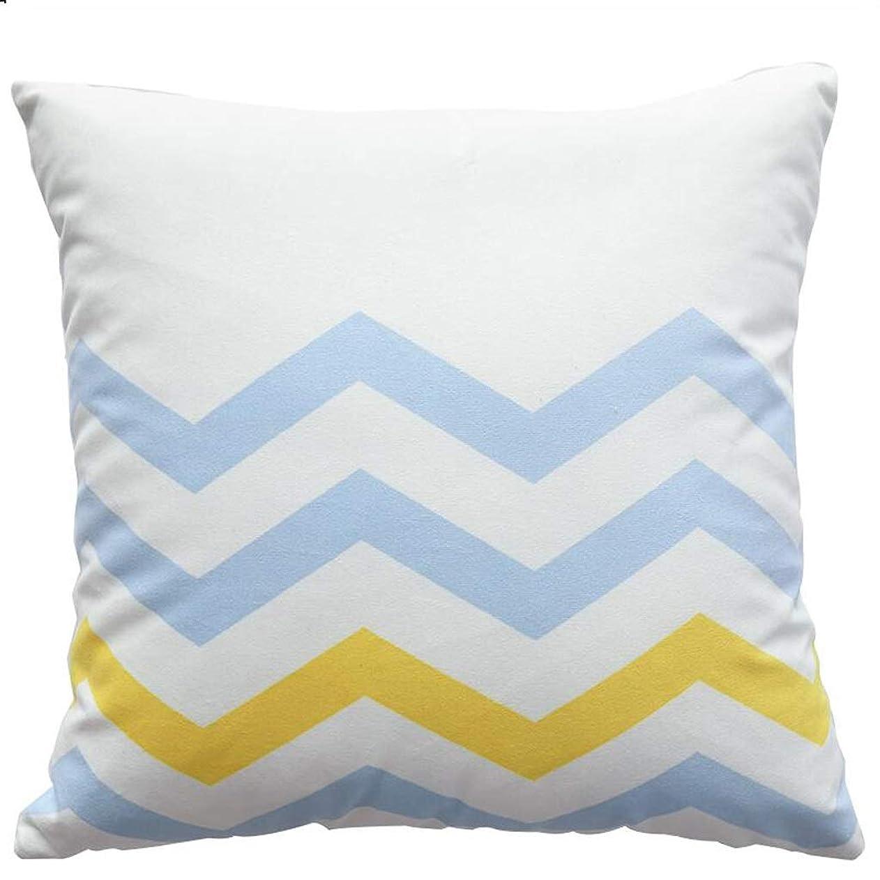 好ましい害ウガンダ柔らかいと快適な枕幾何学的な枕仮眠黄色のソファバックリビングルームのベッドクッション SHWSM (Color : D)