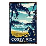 JIA KOAH Costa Rica Zinn Wand Zeichen Retro Plaque Hof