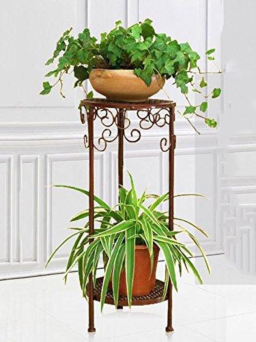 ZENGAI Étagère à fleurs, étagère à fleurs, étagère à fleurs Fer à repasser Salon à fleurs étagère à fleurs à étages à plusieurs étages (Couleur : B, taille : 50 cm)