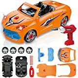 LUKAT Toys for 3 Year Old Boys, Take Apart Racing Toys 2.4GHz Remote Control Car, 22 Pieces STEM Construction Toys Kit DIY Assembly Vehicle Set with Drill Tool, Lights & Sounds for Kids Boys Girls