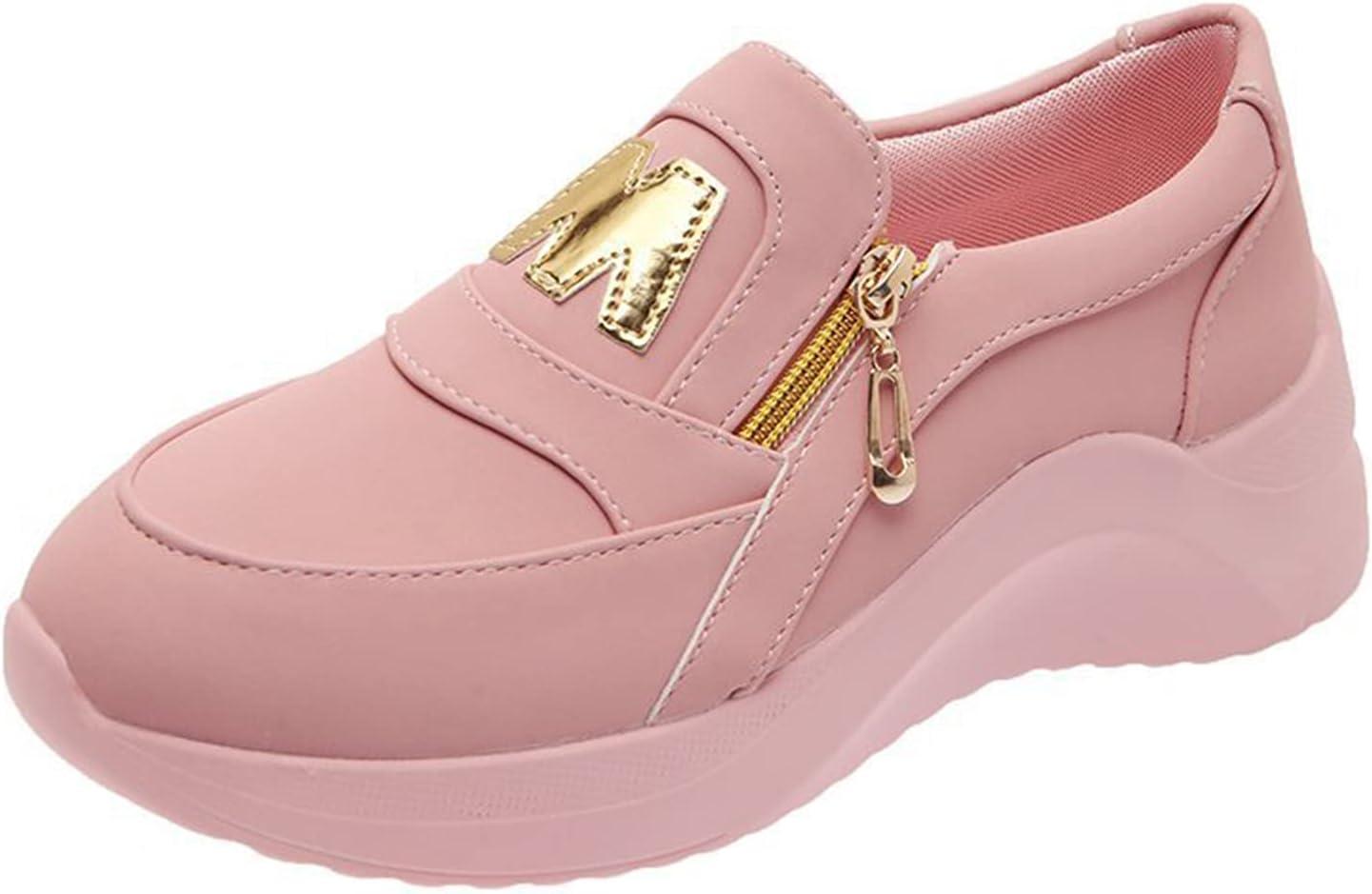 JZENZERO Women Casual Platform Sneakers Breathable Running Walking Sport Tennis Slip On Canvas Shoes