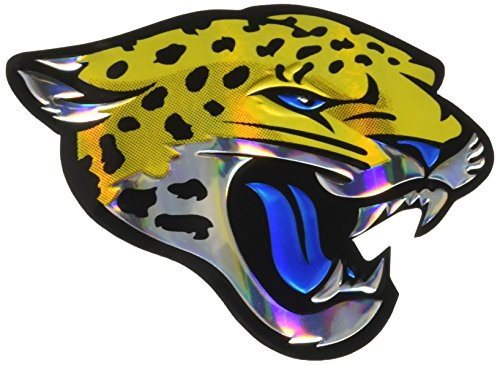 FANMATS NFL gestanztes Auto-Emblem, Unisex-Erwachsene, Jacksonville Jaguars, Teamfarbe