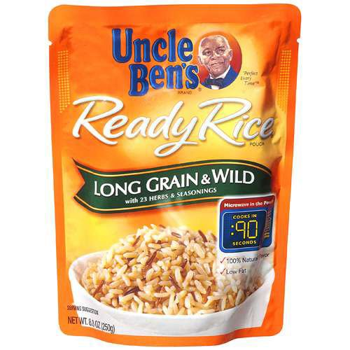 Uncle Ben's Ready Rice Long Grain & Wild, 8.8-Ounce Packages (Pack of 6)