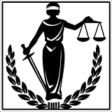 JR Studio 4x4 inch Blind Justice Sticker - Decal Lady Balance Scale Symbol Lawyer Law fair Vinyl Decal Sticker Car Waterproof Car Decal Bumper Sticker
