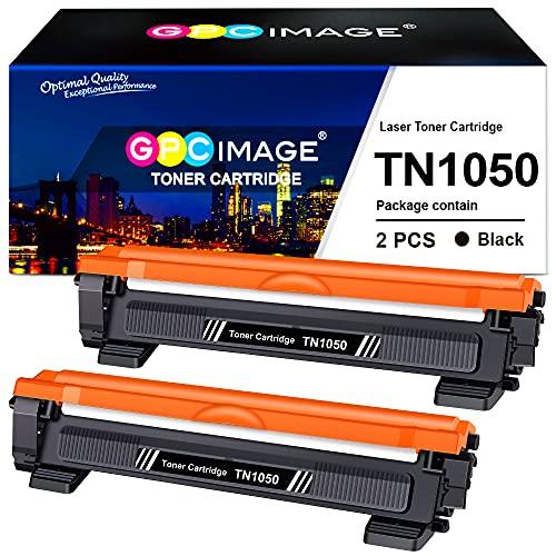 GPC Image Compatibili Cartucce di Toner Sostituzione per Brother TN1050 per HL-1110 HL-1210W HL-1112 HL-1212W DCP-1510 DCP-1610W MFC-1810 MFC-1910W DCP-1612W DCP-1512 (Nero, 2-Pack)