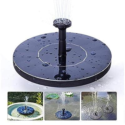 LAWOHO Solar Fountain for Bird Bath, Solar Powered Fountain Pump 1.5W Free Standing Floating Birdbath Water Pumps for Garden, Patio, Pond and Pool