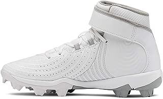 Boys' Harper 4 Mid RM Jr. Baseball Shoe, White (100)/White, 5