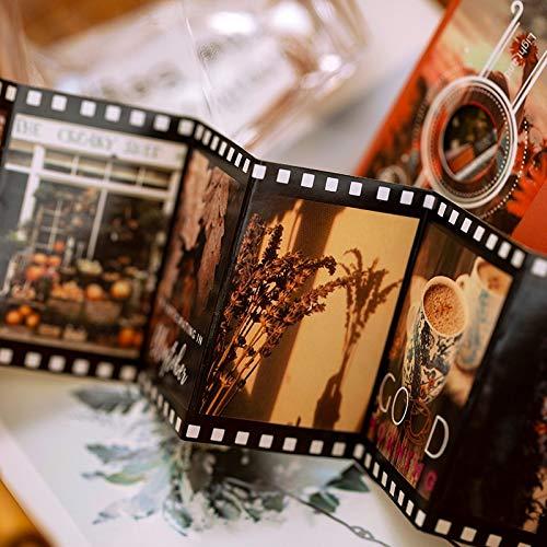 Blour Creative Travel Journal decoratief etiket voor dagboek, seizoensgebonden vintage decoratie, fotoalbum, etiketten, sneeuwvlokken, scrapbooking, 30 x