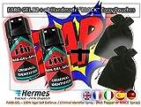 Farbgel Criminel ID Spray/Vaporisateur autodéfense x2 avec x2 faite à la main Noir...
