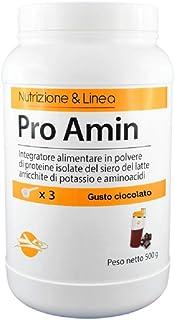 PRO AMIN - Integratore alimentare di proteine isolate del siero del latte arricchito con aminoacidi, Vitamina B6 e Potassi...
