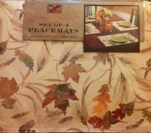 Benson Mills Nature's Leaves Set of 4 Placemats