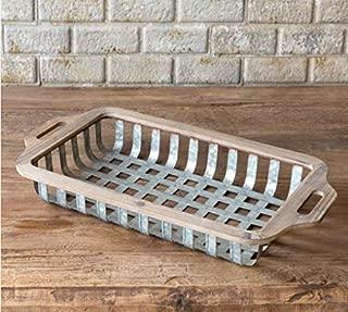 Park Hill Rustic Wood and Metal Sorting Basket