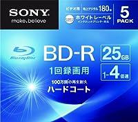 SONY ビデオ用BD-R 1回録画用 片面1層25GB 4倍速 ホワイトプリンタブル 5枚パック 5BNR1VGPS4
