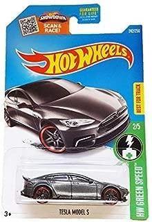 Hot Wheels 2016 HW Green Speed Tesla Model S 242/250, Dark Gray