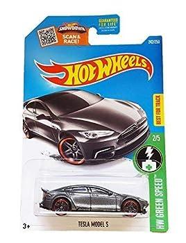 Hot Wheels 2016 HW Green Speed Tesla Model S 242/250 Dark Gray