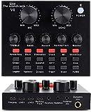 Scheda Mixer audio con cambia voce ed effetti sonori, Mixer audio DJ per tablet Tablet PC, scheda audio live Trasmissione Streaming Registrazione Karaoke