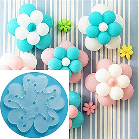 GRAND SHOP 12 Pcs Portable Flower Shape Balloon Clips Holder for Wedding Event Decorations Birthday Party Supplies