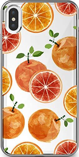 iPhone Android対応 スマホケース 携帯ケース iphoneケース スマホ スイカ レモン オレンジ イチゴ リンゴ パイナップル ピーチ マスカット フルーツ パターン(デザイン:オレンジ) 21 Docomo XPERIA XZs(SO-0