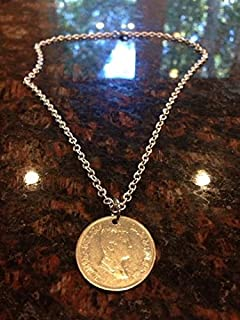 Jordan 5 piastres coin necklace