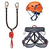 Climbing Technology Kit Ferrata Plus Galaxy, Set Unisex Adulto, Multicolor, Talla Única