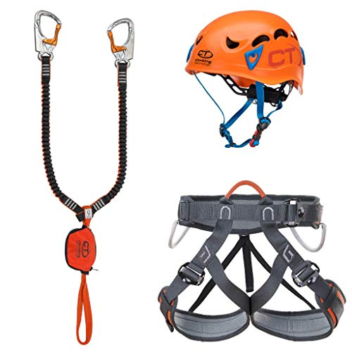 Climbing Technology Kit FERRATA Plus Galaxy, Set Unisex Adulto, Multicolore, Taglia Unica