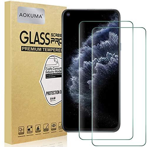 AOKUMA für CubotC30 Panzerglas, 【2 Stücke】 Glas kompatibel mit CubotC30 Schutzfolie, Premium Glasfolie mit 9H Festigkeit, Anti Kratzer, Splitterfest,Anti-Öl,Anti-Bläschen