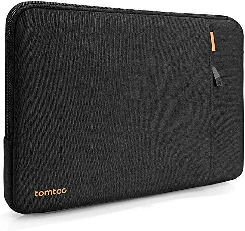 tomtoc 15-15,6 pollici Protettiva a 360° Custodia per laptop Compatibile con Laptop da 15 e 15,6 HP, Dell, Asus, Thinkpad, Notebook, Samsung, Chromebook, Borsa per Laptop Portatile, Nero Blu