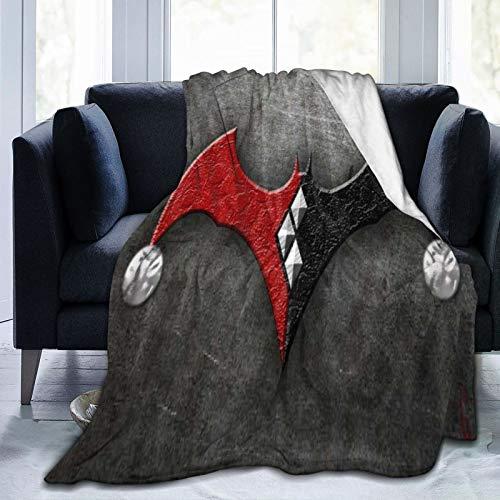 Why So Serious Joker Batman - Manta de forro polar de microfibra suave y esponjosa para cama, sofá, silla, otoño e invierno, 125 x 150 cm