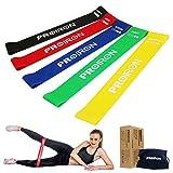 PROIRON Fitnessbänder Set mit 5 stärken Widerstandsbänder Loop Bänder Ideal