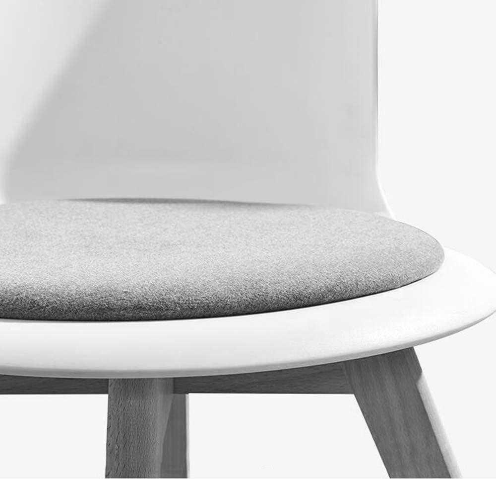 Ping Bu Qing Yun Chaise de Bureau Minimaliste Moderne Maison créative Chaise en Bois Massif Chaise de Salon - Multicolore en Option (Taille: 44X44X75.5cm) @ (Color : D) A
