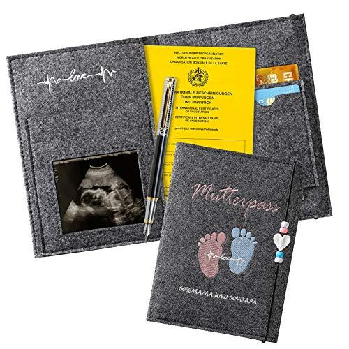 Fundas para Cartillas Sanitarias Bebé, con Compartimentos para Guardar las Tarjetas del Seguro las Fotos de la Ecografía Y los Certificados de las Vacunas, un Dulce Regalo Para las Mujeres Emb