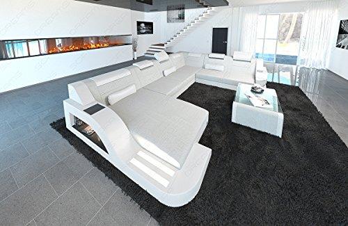 Tela de diseño. Salón paisaje Palermo XXL Crema de color blanco