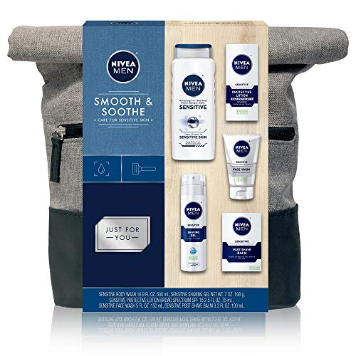 NIVEA Men Dapper Duffel Gift Set - 5 Piece Collection of On-The-Go Grooming Needs with Travel Bag...