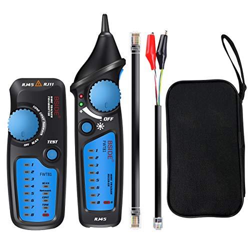 Tester Rete Telefonica, ELEGIANT FWT81 Cavo Finder Telefono Tracker filo FWT11 RJ11 RJ45 Finder Cable Tester Locator Ethernet LAN Network Cable Tester di Cavo Telefonico e Rilevatore di linea Del Cavo