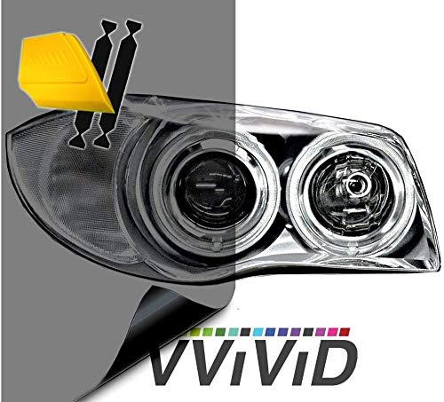 """VViViD Air-Tint Headlight/Tail Light Window Tint (16"""" x 48"""" (w/Tools), Smoke Black)"""