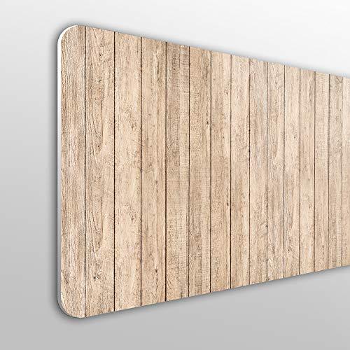 MEGADECOR Cabecero Cama PVC 10mm Decorativo Económico. Efecto Fondo De Pared De Madera De Listones Verticales (135cm x 60cm)