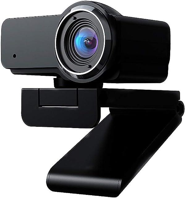 (gestionado por Amazon) Cámara PC USB 1080P cámara Web de HD con micrófono Incorporado cámara Web con Clip para computadora PC portátiles Skype Vedieo Call & Record Webcam (E 1)