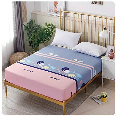 CYYyang Protector de colchón de Rizo algodón y Transpirable Hoja de Cama de Dibujos Animados Paquete Completo de una pieza-25_150 * 200 + 15