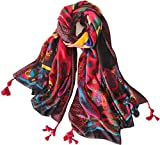 YUNEE Bohemian Scarf Four Seasons Cotton Colorful Scarf Shawl (color1)