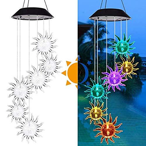 GKJRKGVF Led-hanglamp op zonne-energie, met wisselende kleuren