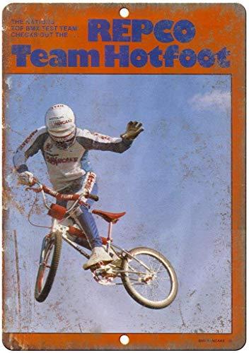 Supsum Repco BMX Team Hotfoot Poster di Arte della casa di Moda retrò Decorazione della Parete applicabile al Bar Ristorante