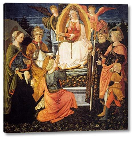 "Madonna Della Cintola by Fra Filippo Lippi - 15"" x 16"" Gallery Wrap Canvas Art Print - Ready to Hang"